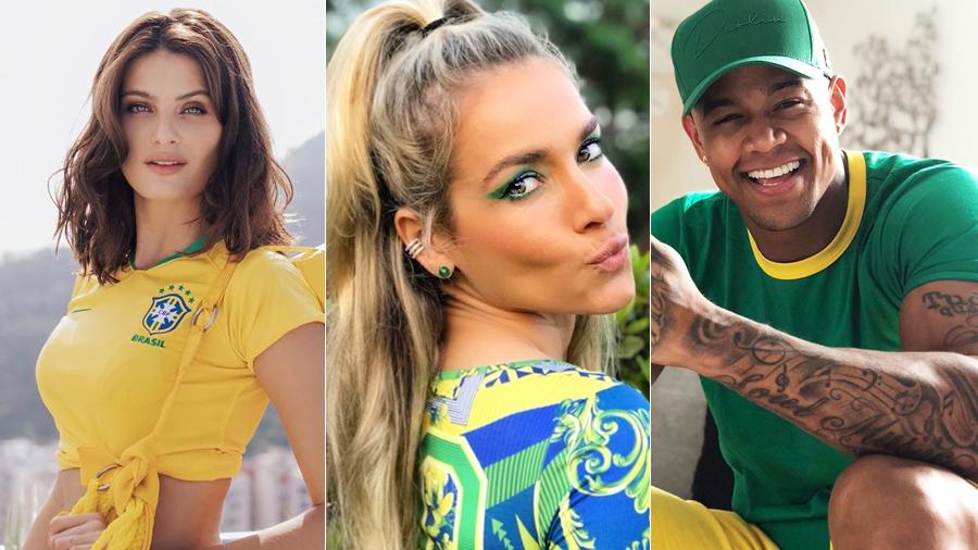 Famosos torcem para a Seleção Brasileira